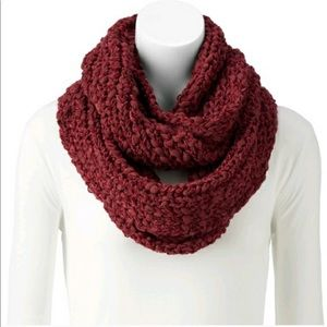 Sonoma red fuzzy knit scarf for winter